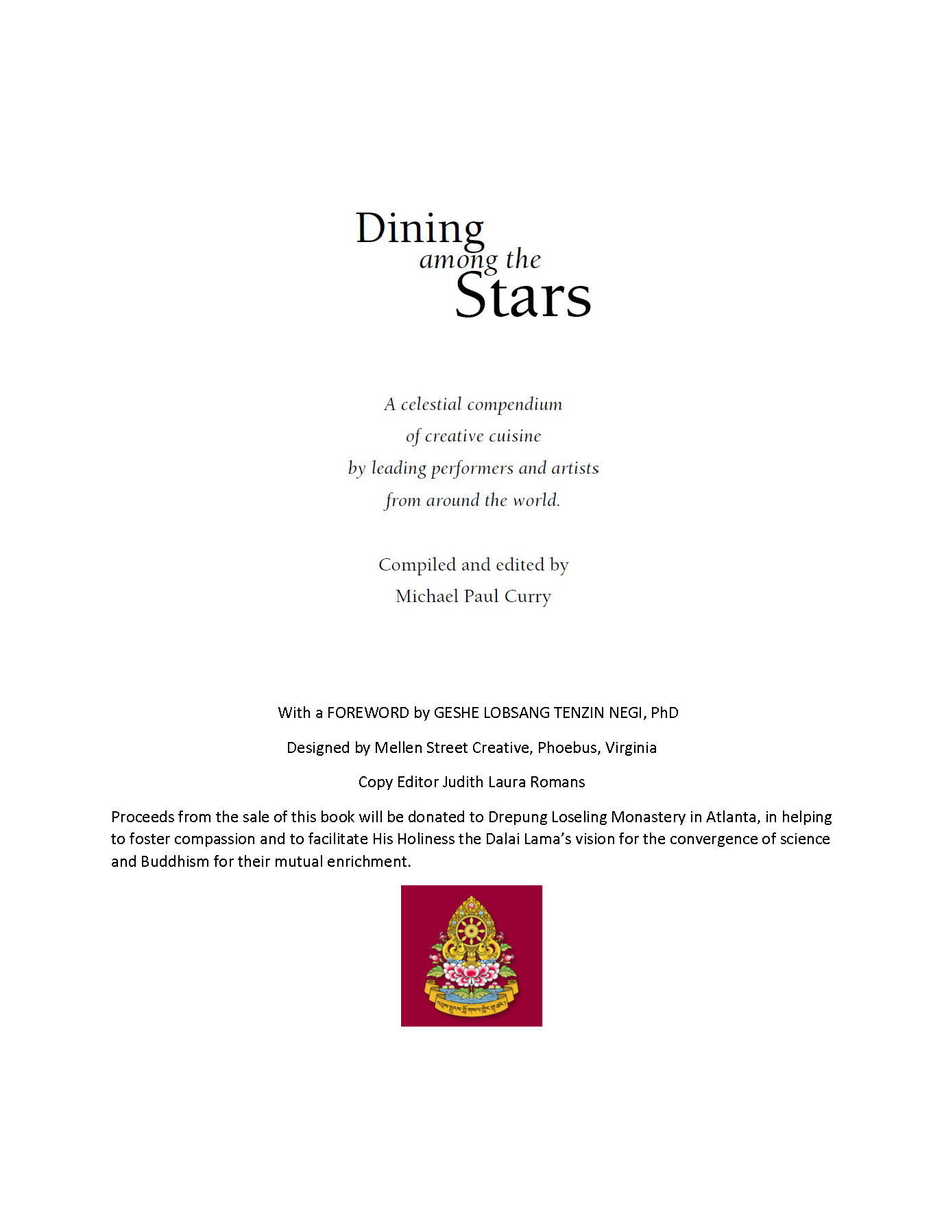 Dining Among The Stars - Title Page